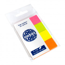 BANDERITAS ADHESIVAS GLOBAL NOTES 20x50 COLORES BRILLANTES PACK DE 4