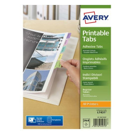Indices separadores de etiquetas imprimibles